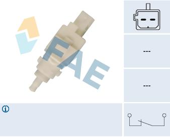 Contacteur de feu stop FAE 24411 (X1)