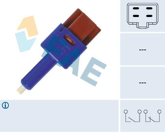 Contacteur de feu stop FAE 24454 (X1)