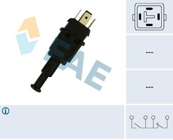 Contacteur de feu stop FAE 24510 (X1)