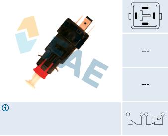 Contacteur de feu stop FAE 24519 (X1)