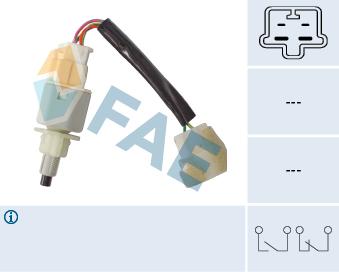 Contacteur de feu stop FAE 24604 (X1)