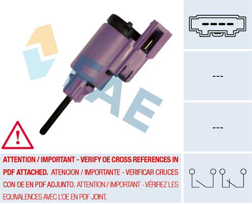 Contacteur de feu stop FAE 24760 (X1)