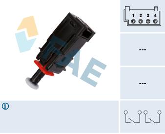 Contacteur de feu stop FAE 24795 (X1)
