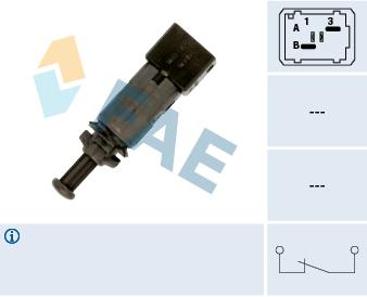 Contacteur de feu stop FAE 24890 (X1)