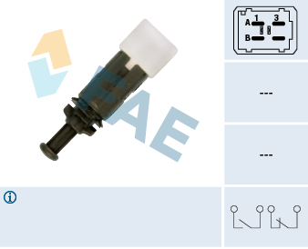 Contacteur de feu stop FAE 24895 (X1)