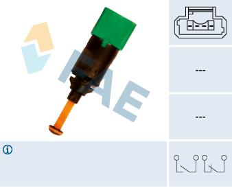 Contacteur de feu stop FAE 24899 (X1)
