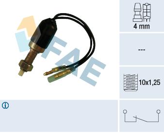 Contacteur de feu stop FAE 25080 (X1)