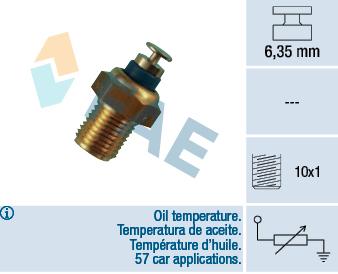 Capteur, température d'huile FAE 32200 (X1)