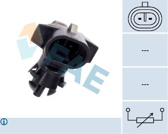 Capteur, température extérieure FAE 33501 (X1)