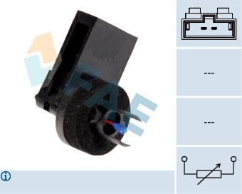 Capteur, température intérieur FAE 33516 (X1)