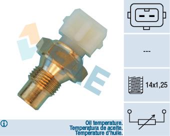 Capteur, température d'huile FAE 33660 (X1)