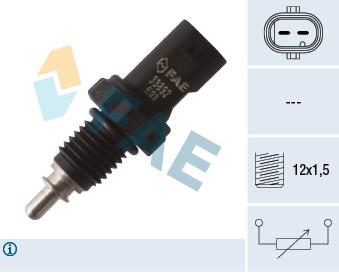 Capteur, temperature du liquide de refroidissement FAE 33892 (X1)