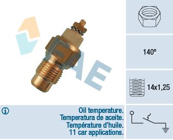 Capteur, température d'huile FAE 35190 (X1)