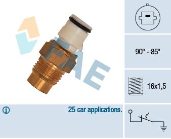 Interrupteur de temperature, ventilateur de radiateur FAE 36170 (X1)
