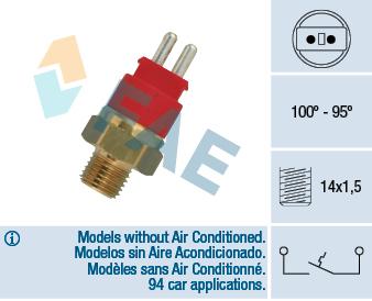 Interrupteur de temperature, ventilateur de radiateur FAE 36250 (X1)