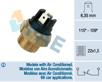 Interrupteur de temperature, ventilateur de radiateur FAE 36280 (X1)