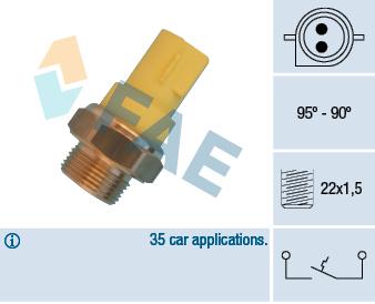 Interrupteur de temperature, ventilateur de radiateur FAE 36330 (X1)