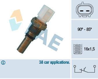 Interrupteur de temperature, ventilateur de radiateur FAE 36540 (X1)