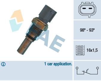 Interrupteur de temperature, ventilateur de radiateur FAE 36550 (X1)