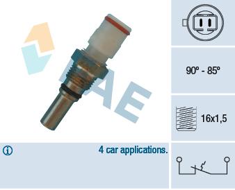 Interrupteur de temperature, ventilateur de radiateur FAE 36570 (X1)