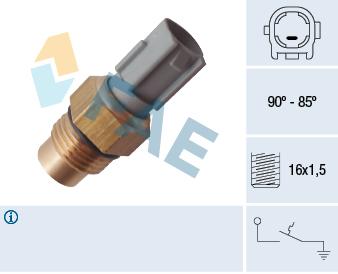 Interrupteur de temperature, ventilateur de radiateur FAE 36712 (X1)