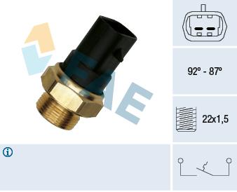 Interrupteur de temperature, ventilateur de radiateur FAE 37220 (X1)