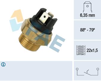 Interrupteur de temperature, ventilateur de radiateur FAE 37340 (X1)