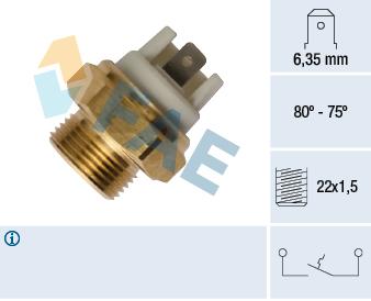 Interrupteur de temperature, ventilateur de radiateur FAE 37352 (X1)
