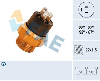Interrupteur de temperature, ventilateur de radiateur FAE 37800 (X1)