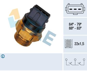 Interrupteur de temperature, ventilateur de radiateur FAE 37940 (X1)