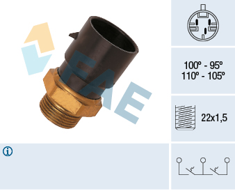 Interrupteur de temperature, ventilateur de radiateur FAE 38030 (X1)
