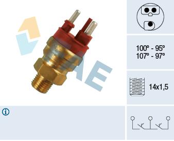 Interrupteur de temperature, ventilateur de radiateur FAE 38120 (X1)