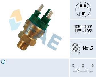 Interrupteur de temperature, ventilateur de radiateur FAE 38130 (X1)