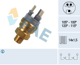 Interrupteur de temperature, ventilateur de radiateur FAE 38140 (X1)