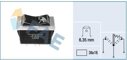 interrupteur, commande essuie glace FAE 62120 (X1)