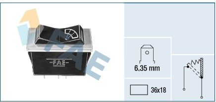 interrupteur, commande essuie glace FAE 62250 (X1)