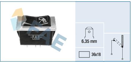 interrupteur, commande essuie glace FAE 62300 (X1)