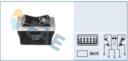 interrupteur, commande essuie glace FAE 62500 (X1)