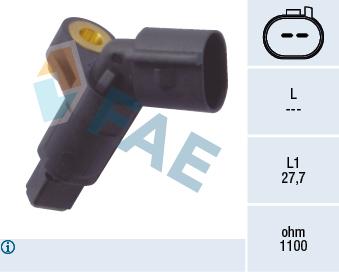 Capteur ABS FAE 78008 (X1)