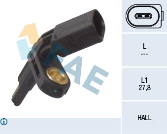 Capteur ABS FAE 78012 (X1)