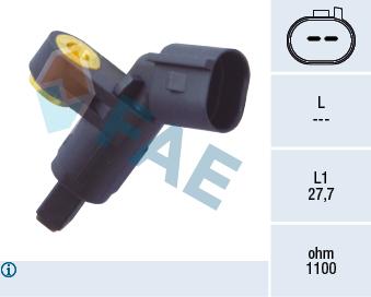 Capteur ABS FAE 78020 (X1)