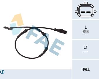 Capteur ABS FAE 78055 (X1)