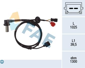 Capteur ABS FAE 78063 (X1)