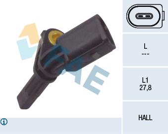 Capteur ABS FAE 78064 (X1)