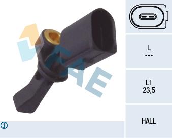 Capteur ABS FAE 78066 (X1)