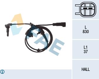 Capteur ABS FAE 78109 (X1)