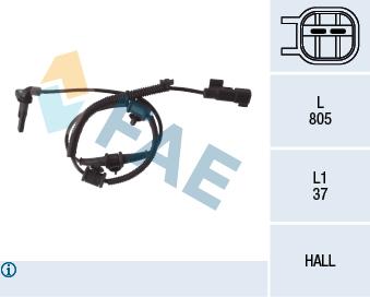Capteur ABS FAE 78110 (X1)