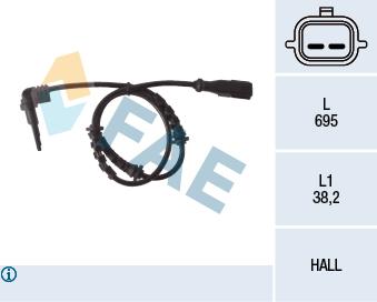 Capteur ABS FAE 78119 (X1)