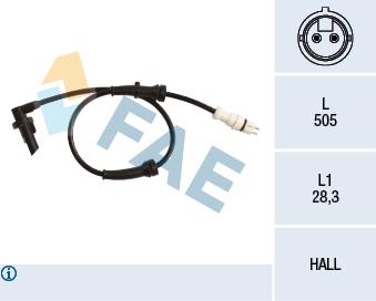 Capteur ABS FAE 78217 (X1)