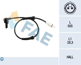 Capteur ABS FAE 78218 (X1)